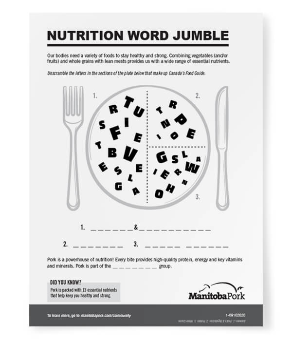 Word Jumble: Nutrition