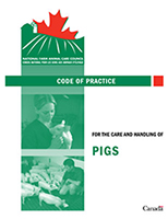 Code of Practice for the care and managing of pigs Document