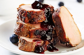 Blueberry Soy Pork Tenderloin