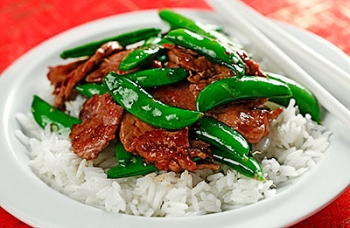 Stir-fried Ginger Pork & Snap Peas