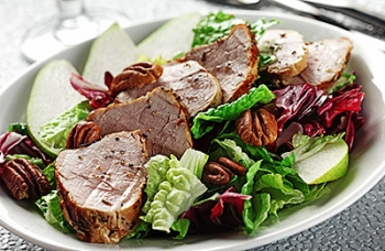 Grilled Pork, Pear & Pecan Salad