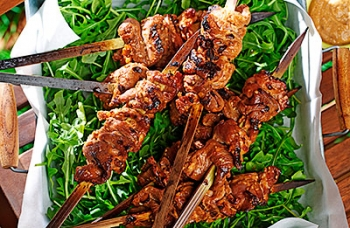 Orange-Glazed Pork Satay