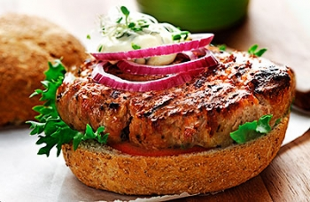 Classic Pork Burger with Basil Mayonnaise