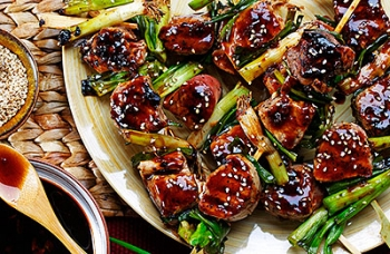 Grilled Japanese Pork Skewers