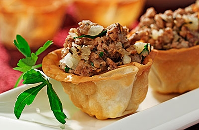 Tourtiere Wontons