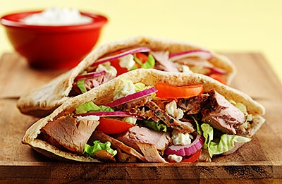 Grilled Pork in Pitas