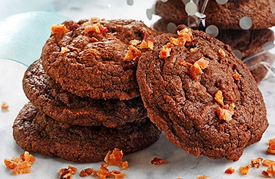Chocolate Espresso Bacon Cookies