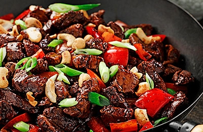 Pork Kung Pao with Peppers & Cashews