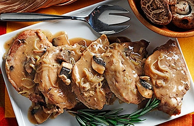 Marsala Chops with Mushrooms & Leeks