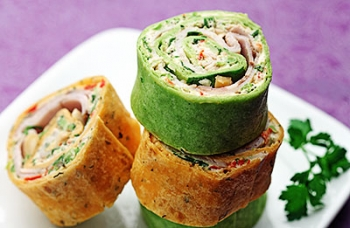 Red & Green Pork Roll-Ups