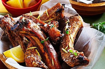 Zesty Greek Back Ribs