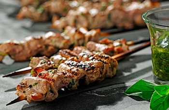 Chimichurri Pork Skewers