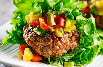Lettuce Wrapped Caribbean Pork Patties