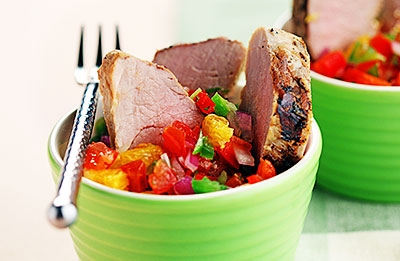 Grilled Pork Tenderloin with Citrus Salsa