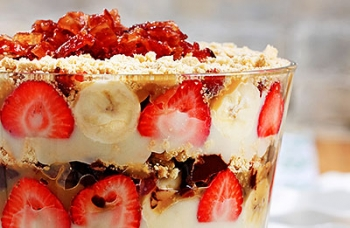 Candied Bacon Bomb Trifle