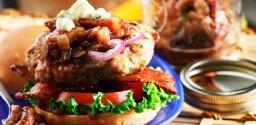 Pork Burger with Bacon Jam